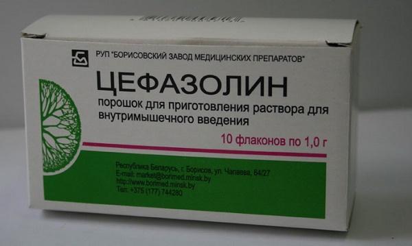 Цефазолин применение