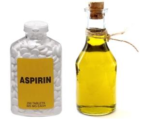 Аспириновый пилинг на основе подсолнечного масла